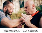 knife threat. kapap instructor... | Shutterstock . vector #761653105