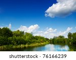 sunny day as natural background | Shutterstock . vector #76166239