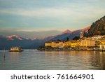 bellagio village on the lake... | Shutterstock . vector #761664901