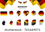 germany complete set. vector... | Shutterstock .eps vector #761669071