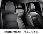 luxury car inside. interior of... | Shutterstock . vector #761670541