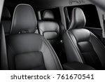 luxury car inside. interior of... | Shutterstock . vector #761670541