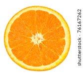 Slice Of Orange Isolated On...