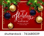 holidays greeting card for... | Shutterstock .eps vector #761680039