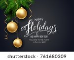 holidays greeting card for... | Shutterstock .eps vector #761680309