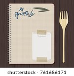 recipe notebook graph with hand ... | Shutterstock .eps vector #761686171