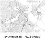 streets of boston  city map ... | Shutterstock .eps vector #761699089