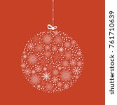 vector christmas ornament with... | Shutterstock .eps vector #761710639