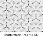 abstract floral pattern.... | Shutterstock .eps vector #761711437