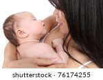 a mother holding baby son with...   Shutterstock . vector #76174255