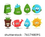 funny cartoon characters.... | Shutterstock .eps vector #761748091