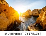 beautiful landscape view on the ... | Shutterstock . vector #761751364