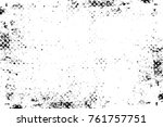grunge black and white pattern. ... | Shutterstock . vector #761757751