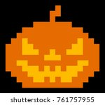 halloween pumpkin avatar icon... | Shutterstock .eps vector #761757955