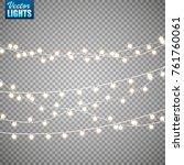 christmas lights isolated on... | Shutterstock .eps vector #761760061