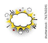 comic empty speech bubble with... | Shutterstock .eps vector #761763241