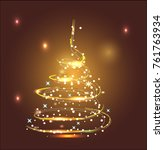 magic christmas tree vector... | Shutterstock .eps vector #761763934