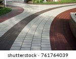 walkway decoration with classic ... | Shutterstock . vector #761764039