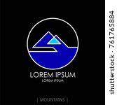mountain logo template.... | Shutterstock .eps vector #761765884