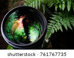 camera lens with beautiful... | Shutterstock . vector #761767735