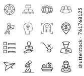 thin line icon set   target... | Shutterstock .eps vector #761768125