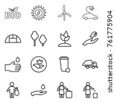 thin line icon set   bio  sun... | Shutterstock .eps vector #761775904