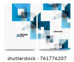 business brochure cover layout  ... | Shutterstock .eps vector #761776207