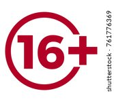 limit age icon on red... | Shutterstock .eps vector #761776369