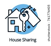 house sharing  property share... | Shutterstock .eps vector #761776405