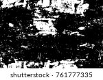grunge black and white pattern. ... | Shutterstock . vector #761777335