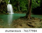 Erawan Waterfall In...