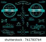 hand drawn insignias  symbols ... | Shutterstock .eps vector #761783764
