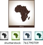 map of africa | Shutterstock .eps vector #761790709
