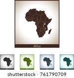 map of africa | Shutterstock .eps vector #761790709