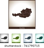 map of austria | Shutterstock .eps vector #761790715