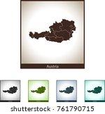 map of austria | Shutterstock .eps vector #761790715