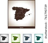map of spain | Shutterstock .eps vector #761790739