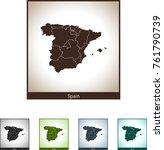 map of spain | Shutterstock .eps vector #761790739