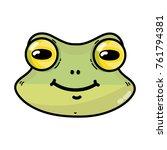 cute frog head wild animal...   Shutterstock .eps vector #761794381
