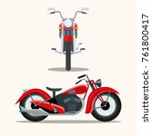 retro red motorcycle vintage... | Shutterstock .eps vector #761800417