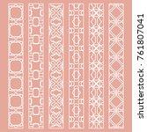 vector set of line borders with ... | Shutterstock .eps vector #761807041