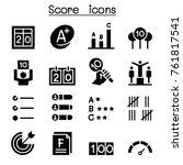 score icon set vector... | Shutterstock .eps vector #761817541