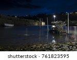 crail harbour on the east neuk... | Shutterstock . vector #761823595