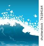 wave illustration | Shutterstock .eps vector #76184164