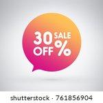 30  offer label sticker  sale... | Shutterstock .eps vector #761856904
