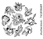 peony icon illustration. doodle ... | Shutterstock . vector #761858689