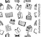books seamless pattern | Shutterstock .eps vector #761859115