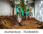 palolem goa india october 28... | Shutterstock . vector #761866831