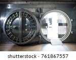 big bank vault | Shutterstock . vector #761867557
