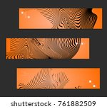 minimal banner templates with... | Shutterstock .eps vector #761882509